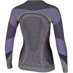 UYN Ambityon Melange UW LS Shirt Women Black Melange/Purple/Raspberry